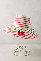 Anthropologie Upbeat Reversible Sun Hat