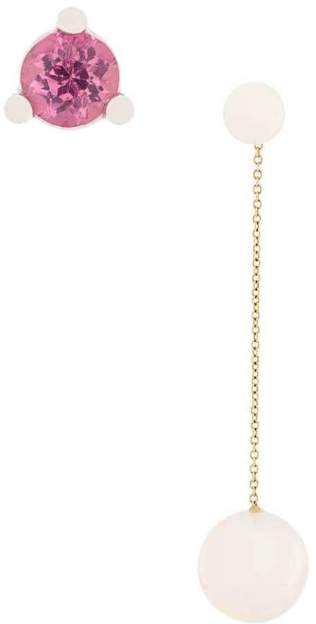 Delfina Delettrez 18kt yellow gold Virus earrings set