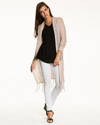 Le Château Open-Stitch Knit Duster