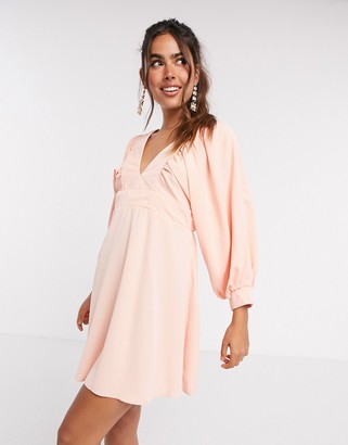 AX Paris v front mini dress in peach
