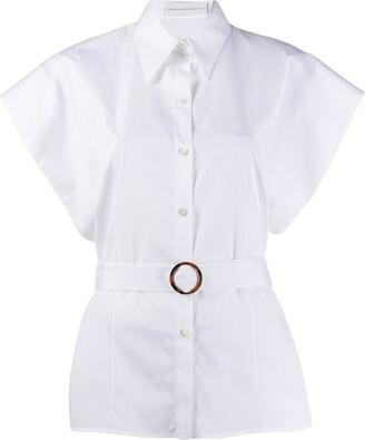 Victoria Victoria Beckham Belted Short-Sleeved Shirt