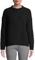Time and Tru Cableknit Chenille Sweater Women's