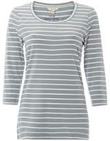 White Stuff Brushed Layer Jersey T-Shirt, Duck Egg/White