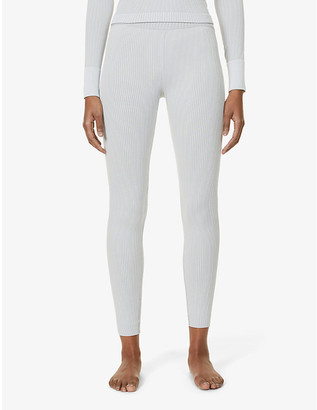 Cordova Ribbed high-rise stretch-woven leggings