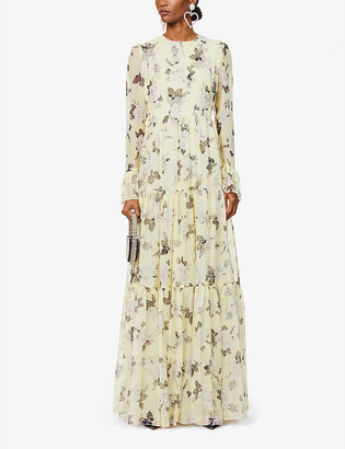 Erdem Alvaro floral-print silk-crepe gown