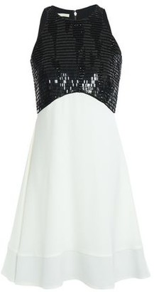 Antonio Berardi Sequin-embellished Two-tone Crepe Mini Dress