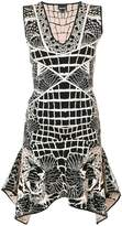 Just Cavalli tiger embroidered dress