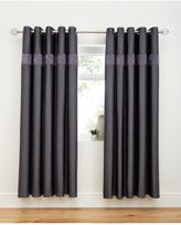 Very 3D Ruffle Border Lined Eyelet Curtains