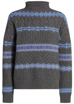 Altuzarra Jac Mockneck Knit Wool Sweater