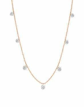 Graziela Small Floating Diamond Necklace