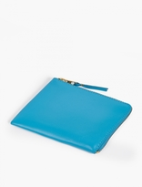 Comme Des Garcons Wallet Blue Small Leather Coin Wallet