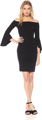 Rachel Roy Women's Bell Sleeve Knit Off Shoulder Dress