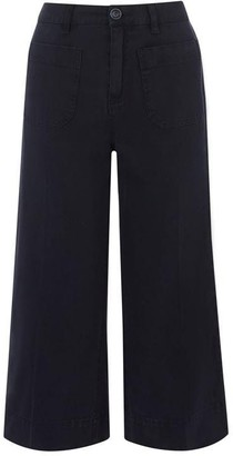 Oasis Chino Crop Wide Leg Trouser