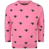 Kenzo KidsGirls Fuchsia Eye Print Sweater