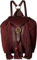 Frye Clara Fringe Backpack Backpack Bags