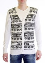 Dinamit Jeans Men's Custom Fit V-Neck Cotton Cardigan -XXL