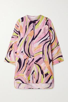 Emilio Pucci Printed Cotton-gauze Tunic - Baby pink