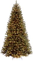 National Tree Company North Valley Spruce Pre-Lit Hinged Christmas Tree with Clear Lights