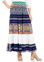 Calessa Mixed Print Maxi Skirt