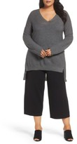 Eileen Fisher Plus Size Women's High/low Merino Wool Sweater