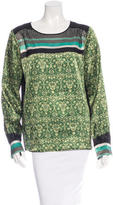 Clover Canyon Long Sleeve Printed Top