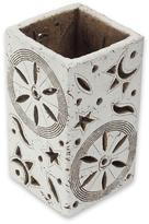 Handcrafted Ceramic Accent Lamp from Mexico, 'Cosmos I'
