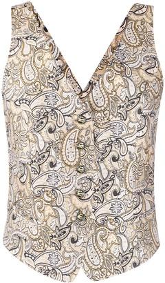 Etro Paisley Print Waistcoat