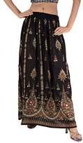 Skirts 'N Scarves SNS Sequin Long Maxi Elastic Skirt