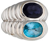Bvlgari 18K Topaz and Iolite Ring