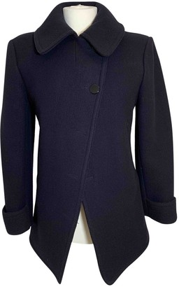 Celine Navy Wool Coat for Women