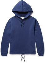 Our Legacy Printed Fleece-back Cotton-jersey Hoodie - Blue