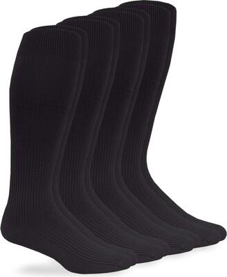Jefferies Socks Men's Microfiber Nylon Rib Over The Calf Dress 4 Pack
