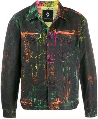 Marcelo Burlon County of Milan Paint Effect Denim Jacket