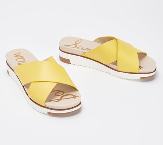 Sam Edelman Cross Strap Slide Sandals - Audrea