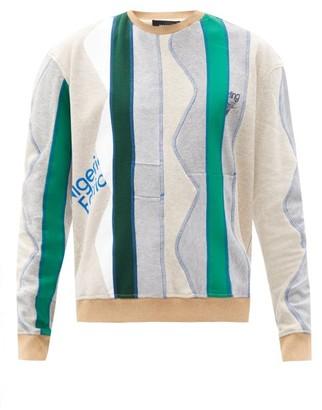 Ahluwalia Patchwork Recycled-cotton Jersey Sweatshirt - Grey Multi