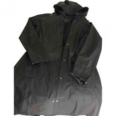 Rains Black Synthetic Trench coats