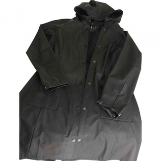 Rains Black Synthetic Trench coats