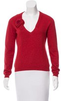 Moschino Mohair-Blend V-Neck Sweater