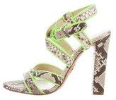 Roberto Cavalli Python Crossover Sandals