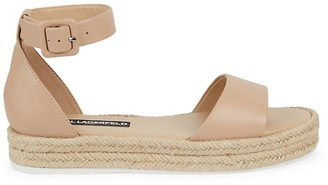 Karl Lagerfeld Paris Adara Leather Espadrille Sandals