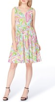 Tahari Petite Women's Cotton Fit & Flare Dress