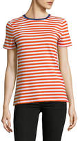 Lord & Taylor Petite Striped Cotton-Blend Tee