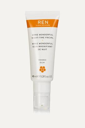 Ren Skincare Wake Wonderful Night-time Facial, 40ml - Colorless