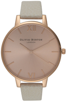 Olivia Burton Women's Big Dial Watch Mink/Rose Gold