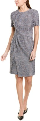St. John Tweed Wool-Blend Sheath Dress