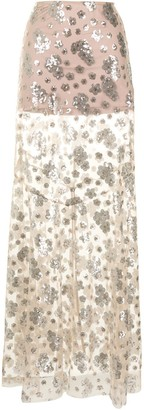 macgraw Dorothea floral sequined embroidered skirt