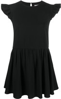 Saint Laurent ruffled sleeves short dress