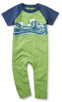 Tea Collection Infant Boy's Wave On Graphic Romper