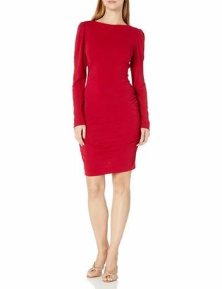 Nicole Miller Women's Strtchy Matte Jersey L/s Dress