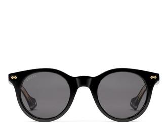 Gucci Round acetate sunglasses